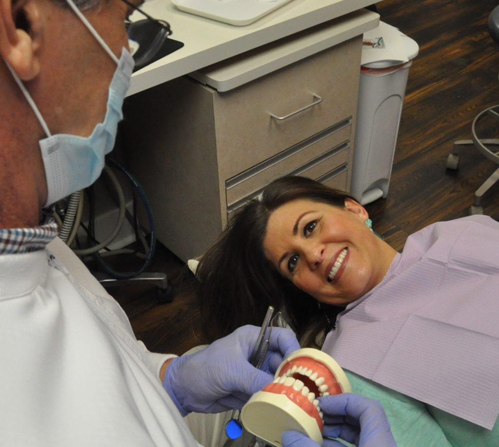 patient smiling before cosmetic dental procedure